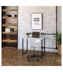 mesa de escritório kuadra branca 90 cm