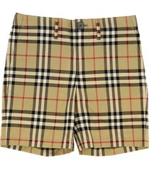 burberry shorts with vintage check pattern