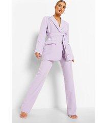 geplooide strakke broek, lilac