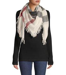 colorblock merino wool scarf