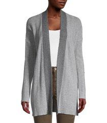 qi cashmere women's ribbed cashmere cardigan - size xs