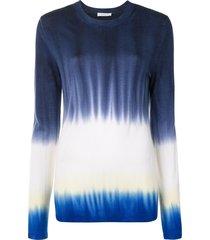 gabriela hearst tie dye print jumper - black