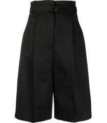 philosophy di lorenzo serafini wide leg bermuda shorts - black