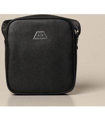 armani exchange shoulder bag armani exchange bag in synthetic saffiano leather