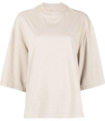 rick owens drkshdw slouchy cotton t-shirt - neutrals