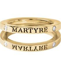 14k gold & diamond split ring