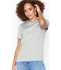 selected femme slfann ss print tee w t-shirts