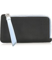loewe anagram leather coin pouch black, multi sz: