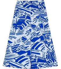 pantalon en coton avec imprimé parasol