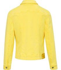 jeansjack met metalen knopen van looxent geel
