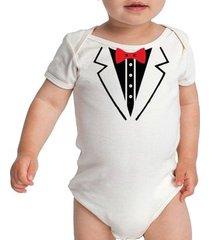 body bebe smoking engraçados terno roupa social gravata borboleta criativa urbana