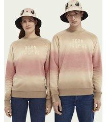scotch & soda born to love unisex sweater met ronde hals van een katoenmix