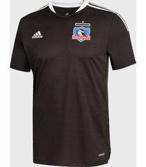 camiseta colo colo adidas performance cc tr black jsy negro - calce regular