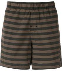 osklen horizontal-stripe swim shorts - green