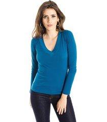 blusa básica decote v alphorria feminina