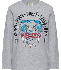 kairon t-shirts long-sleeved t-shirts grijs kenzo