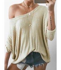 tejido beige one hombro oversize jumper