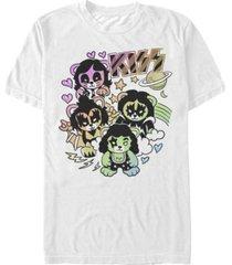 kiss men's cute little rocker bears logo short sleeve t-shirt