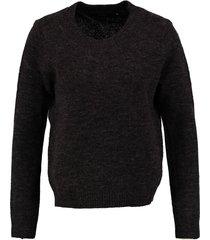 vero moda donkergrijze trui wool blend