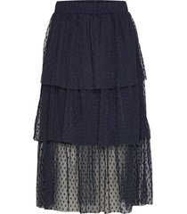 bilbao skirt knälång kjol blå modström