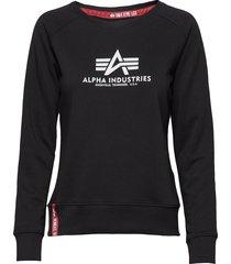 new basic sweater wmn sweat-shirt tröja svart alpha industries