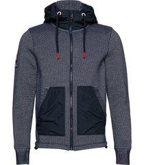 mountain bonded ziphood hoodie trui blauw superdry