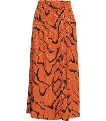 aylingz skirt ma19 rok knielengte oranje gestuz