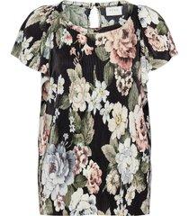 viblamia s/s plisse top/ofw t-shirts & tops short-sleeved svart vila
