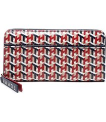 billetera lg zip wallet multicolor tommy hilfiger