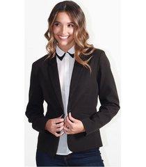 chaqueta para mujer en poliester poliester multicolor color-negro-talla-xxs