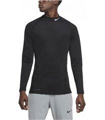 overhemd lange mouw nike camiseta negra hombre pro warm cu4970