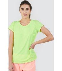 camiseta m/c unicolor color amarillo, talla xs