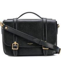 saint laurent mini schoolbag satchel - black