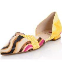ballerinaskor högl gul::flerfärgad