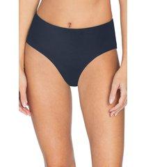 women's robin piccone ava high waist bikini bottoms, size large - blue