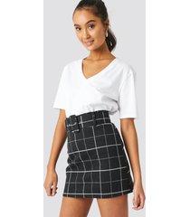 trendyol checkered mini skirt - black
