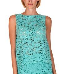 blouse lisca mouwloze strandtop florida groen