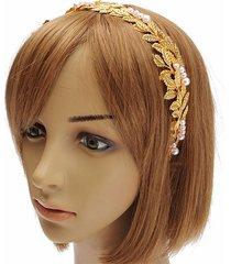 capelli dorati della fascia delle donne di retro style delle donne