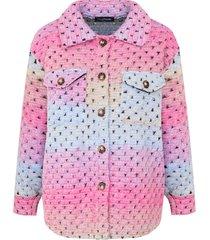 tie dye woven jacket fuchsia