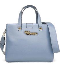 bolsa alice monteiro grandes alça gorguráo bordada -  azul bebê - tricae