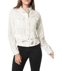 women's joe's belted canvas utility jacket, size x-small - white