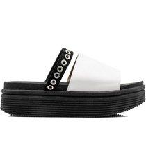 sandalia negra kandil disco doble agarre