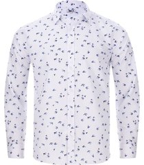 camisa aves color blanco, talla xl