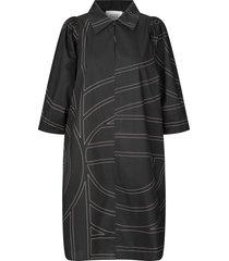 blouse jurk dakky  zwart