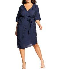 plus size women's city chic asymmetrical hem hammered satin dress