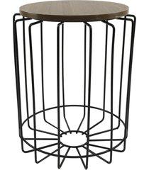 mesa de canto redonda para vasos, objetos, decoração - lojas carisma