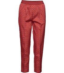 tenna byxa med raka ben röd custommade
