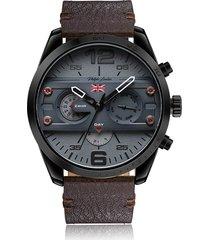 relógio cronógrafo philiph london masculino - pl80060612m preto