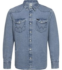 27mw overhemd casual blauw wrangler