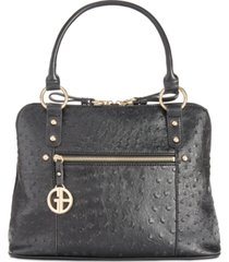 giani bernini faux ostrich dome satchel, created for macy's
